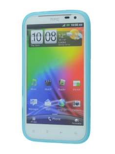 HTC Sensation XL TPU Gel Case - Sky Blue