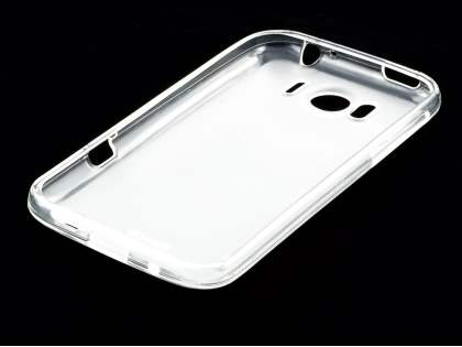 TPU Gel Case for HTC Sensation XL - Frosted Clear