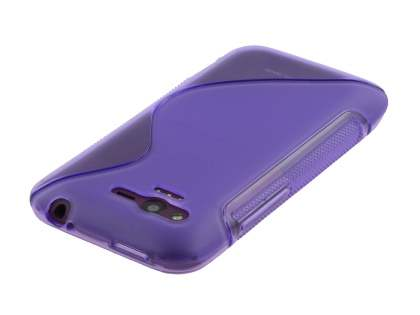 Wave Case for HTC Rhyme - Frosted Purple/Purple