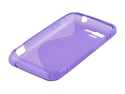 HTC Rhyme Wave Case - Frosted Purple/Purple