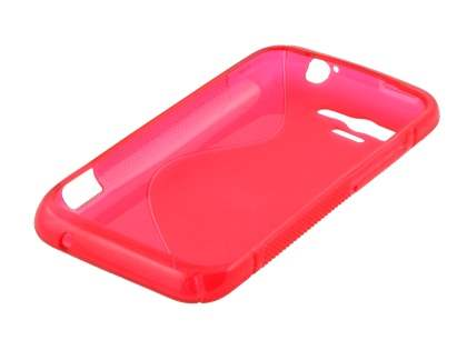 Wave Case for HTC Rhyme - Frosted Red