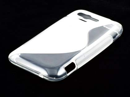 HTC Rhyme Wave Case - Frosted Clear/Clear