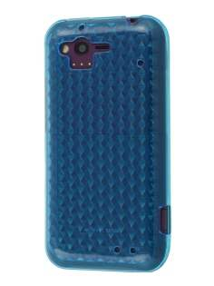 HTC Rhyme TPU Gel Case - Diamond Sky Blue Soft Cover