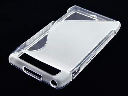 Motorola RAZR Wave Case - Frosted Clear/Clear