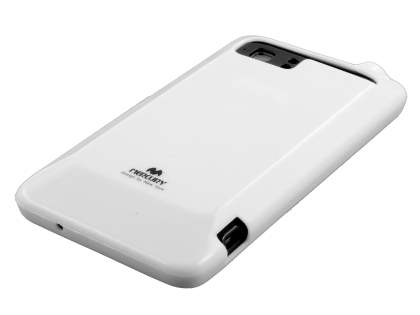 Mercury Glossy Gel Case for HTC Velocity 4G - Pearl White