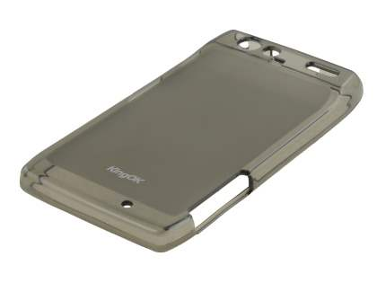 KingOK Motorola RAZR Frosted TPU Case plus Screen Protector - Frosted Grey