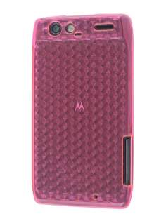 Motorola RAZR TPU Gel Case - Diamond Pink Soft Cover