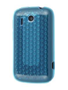 HTC Explorer TPU Gel Case - Diamond Blue Soft Cover