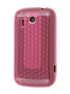 HTC Explorer TPU Gel Case - Diamond Pink Soft Cover