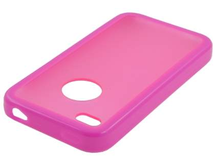iPhone 4S Dual-Design Case - Pink/Frosted Pink