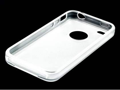 iPhone 4S Dual-Design Case - Clear/Frosted Clear