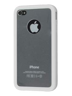 iPhone 4S Dual-Design Case - White/Frosted Clear Dual-Design Case