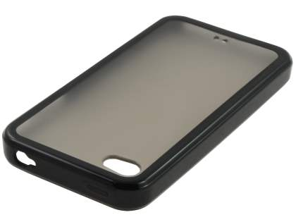iPhone 4S/4 Dual-Design Case - Black/Frosted Grey
