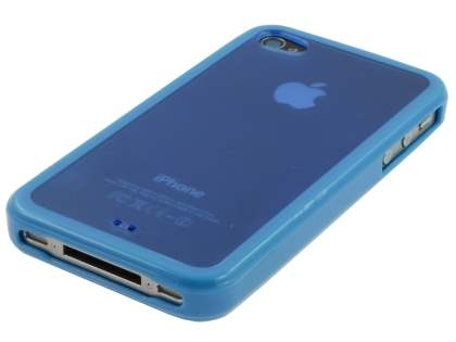 iPhone 4S/4 Dual-Design Case - Blue/Frosted Blue