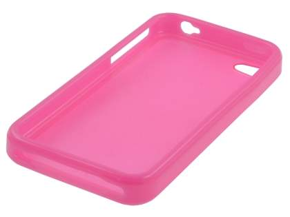 iPhone 4S/4 Dual-Design Case - Pink/Frosted Pink