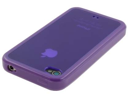 iPhone 4S/4 Dual-Design Case - Purple/Frosted Purple