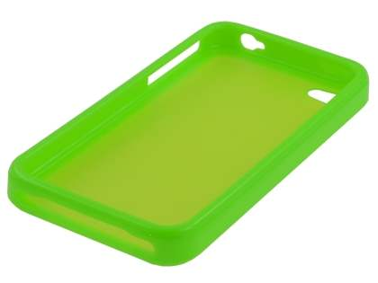 iPhone 4S/4 Dual-Design Case - Green/Frosted Green