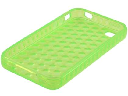 iPhone 4S Bubble Gel Case - Green