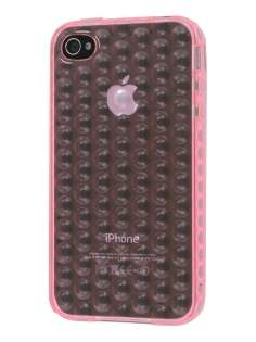 iPhone 4S Bubble Gel Case - Baby Pink