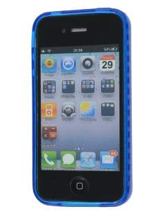 iPhone 4S Bubble Gel Case - Blue