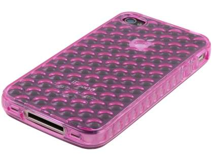 iPhone 4S Bubble Gel Case - Pink