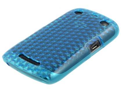 BlackBerry Curve 9360 TPU Gel Case - Diamond Blue