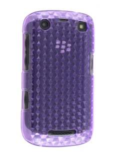 BlackBerry Curve 9360 TPU Gel Case - Diamond Purple Soft Cover