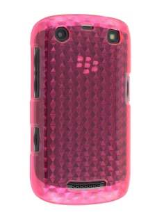 BlackBerry Curve 9360 TPU Gel Case - Diamond Pink Soft Cover