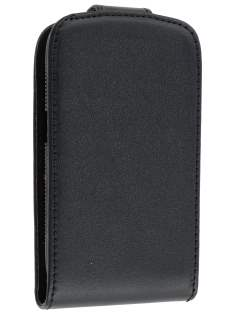 BlackBerry Curve 9360 Synthetic Leather Flip Case - Black