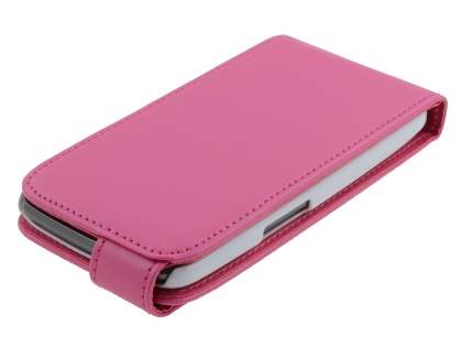 Samsung I9250 Google Galaxy Nexus Synthetic Leather Flip Case - Pink