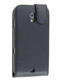 Samsung I9250 Google Galaxy Nexus Synthetic Leather Flip Case - Black Leather Flip Case