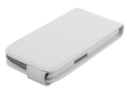 Samsung I9250 Google Galaxy Nexus Synthetic Leather Flip Case - Pearl White