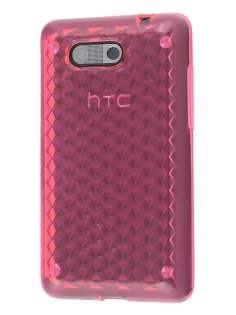 Diamond Gel Case for HTC Aria - Pink Soft Cover
