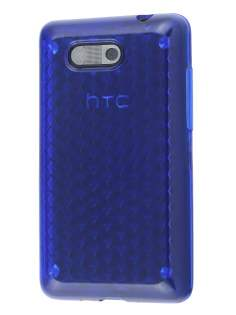 Diamond Gel Case for HTC Aria - Ocean Blue Soft Cover