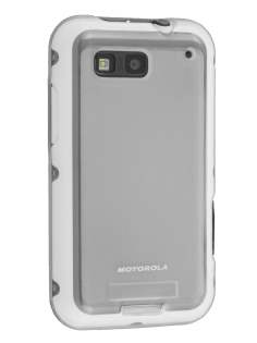 Motorola DEFY TPU Gel Case - Frosted Clear Soft Cover