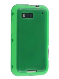 Motorola DEFY TPU Gel Case - Green Soft Cover