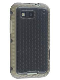 Motorola DEFY TPU Gel Case - Diamond Grey Soft Cover