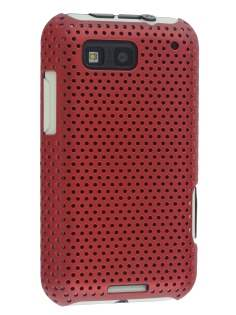 Slim Mesh Case for Motorola DEFY ME525 - Red Hard Case