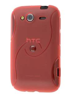 HTC Wildfire S Wave Case - Red Soft Cover