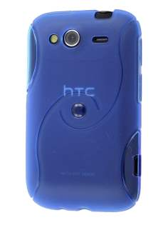 HTC Wildfire S Wave Case - Light Blue Soft Cover