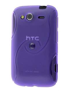 HTC Wildfire S Wave Case - Purple Soft Cover