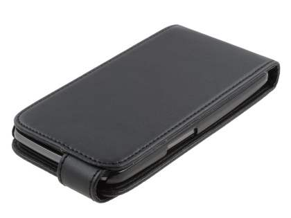 Samsung I9250 Google Galaxy Nexus Synthetic Leather Flip Case - Black