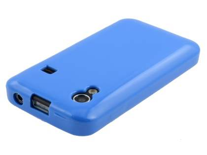 Samsung Galaxy Ace S5830 Frosted Colour TPU Gel Case - Blue