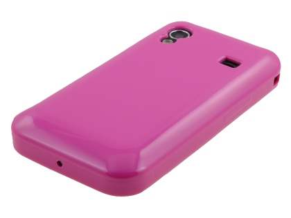 Samsung Galaxy Ace S5830 Frosted Colour TPU Gel Case - Pink