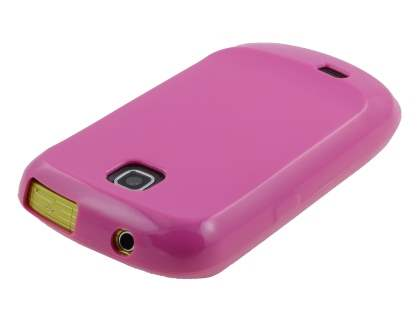 Samsung S5570 Galaxy Mini Frosted Colour TPU Gel Case - Pink