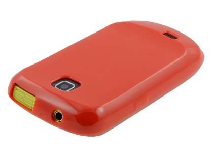 Samsung S5570 Galaxy Mini Frosted Colour TPU Gel Case - Red