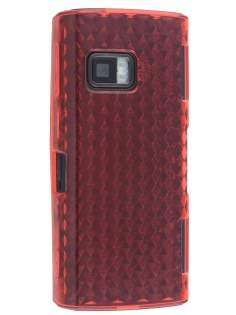 TPU Gel Case for Nokia X6 - Diamond Red Soft Cover