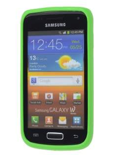 Samsung Galaxy W I8150 Colour TPU Gel Case - Lime Green