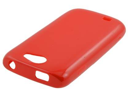 Samsung Galaxy W I8150 Colour TPU Gel Case - Red