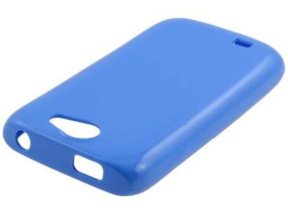 Samsung Galaxy W I8150 Colour TPU Gel Case - Blue